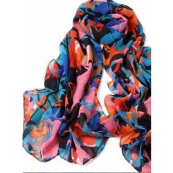Farverigt tørklæde