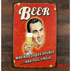 Beer...Making you see double... and feel single