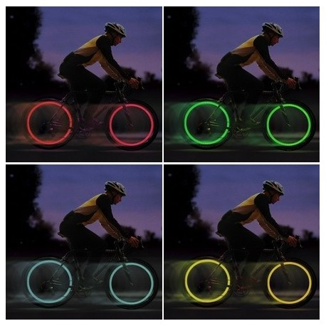 LED lys til cykel ventil
