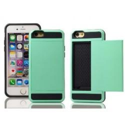 Grøn cover med plads til kreditkort til iPhone 5, 5S, SE