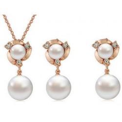 Smykkesæt med perler - guld