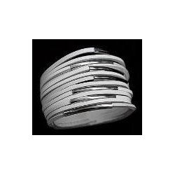 Flot læder armbånd med strimler