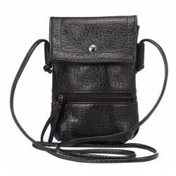 Læder clutch i sort