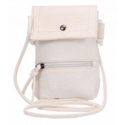Læder clutch i hvid