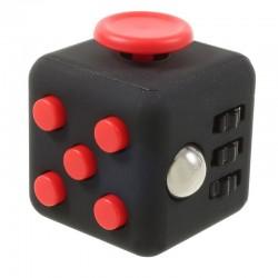 Fidget Cube sort og rød