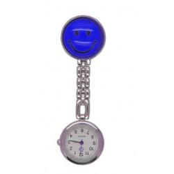 Sygeplejerske ur med mørkeblå smiley