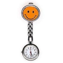 Sygeplejerske ur med orange smiley