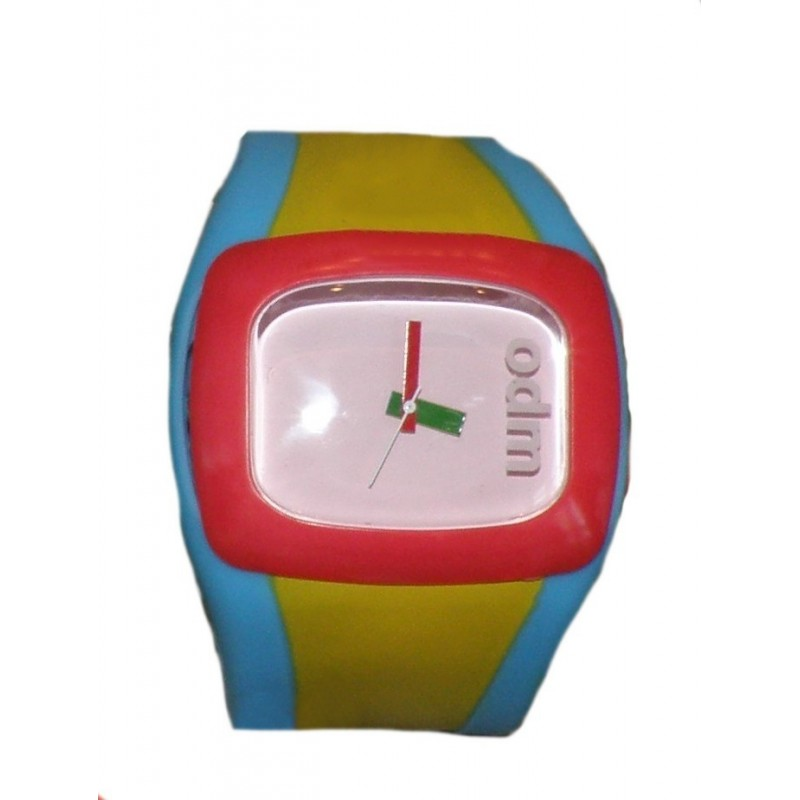 83aacdcb07a ODM gummi ur med blå/gul/pink - Trendseller.dk