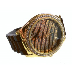Silikone ure med zebra