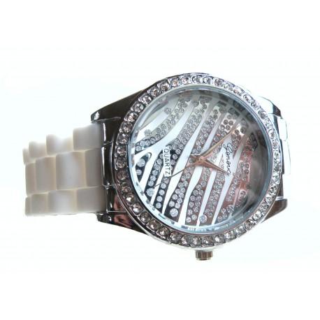Silikone ur med zebra