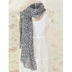 Tørklæde med leopard tryk