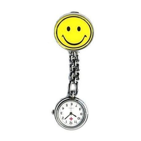 Sygeplejerske ur med gul smiley