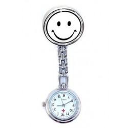 Sygeplejerske ur med hvid smiley