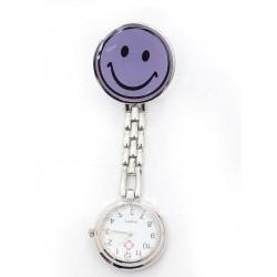 Sygeplejerske ur med lilla smiley