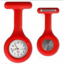 Sygeplejerske ur i rød silikone