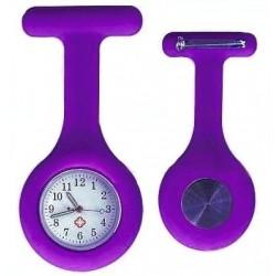 Sygeplejerske ur i lilla silikone