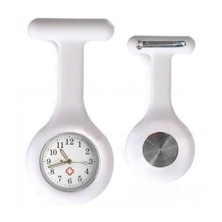Sygeplejerske ur i hvid silikone