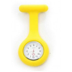 Sygeplejerske ur i gul silikone