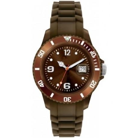 Flot brun ur med datovisning