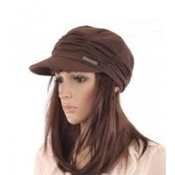 Feminin kasket- brun