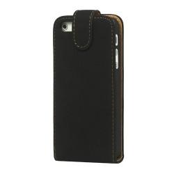 iPhone 5 cover læder - sort