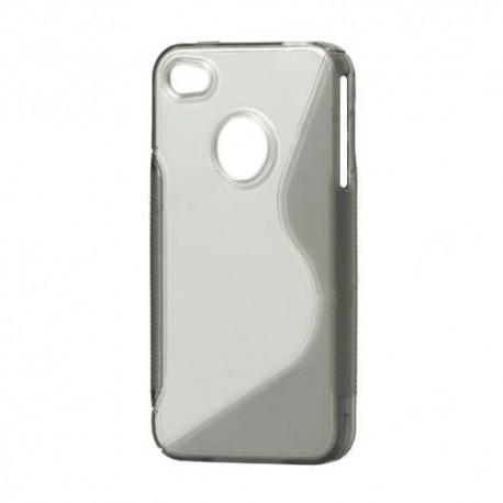 TPU cover til Iphone 4 og 4S- grå