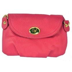 Pink clutch/taske med spænde