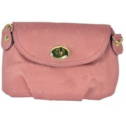 Rosa clutch/taske med spænde