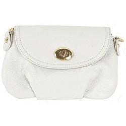 Hvid clutch/taske med spænde
