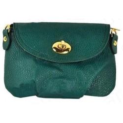 Grøn clutch/taske med spænde