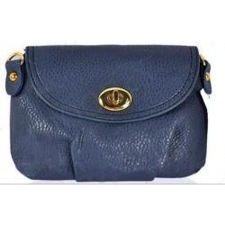Blå clutch/taske med spænde
