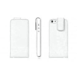Hvid PU læder cover til iPhone 5