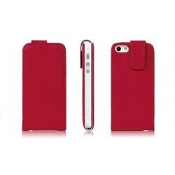 Rød PU læder cover til iPhone 5