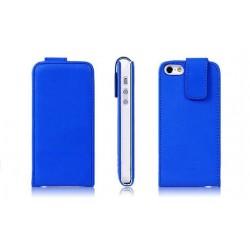 Mørkeblå PU læder cover til iPhone 5