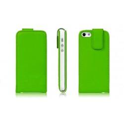 Grøn PU læder cover til iPhone 5
