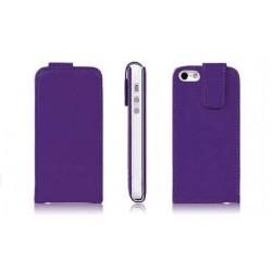 Lilla PU læder cover til iPhone 5