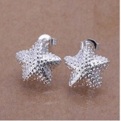 Sølv øreringe med stjerne