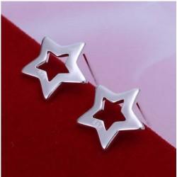 Sølv øreringe med simpel stjerne